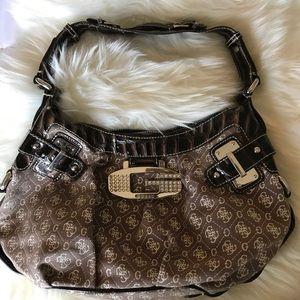 Guess shoulder bag chunky Hardware Brown Bag